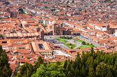 Cusco Aerial View From Saqsaywaman In Cusco, Peru poster