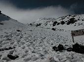 Avalanche Zone On Cotopaxi Volcano