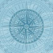 Grunge Background With Antique Wind Rose. Nautical Navigation, Topography And Cartography Concept, W poster