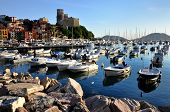 Lerici port and castle view