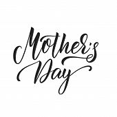 Mothers Day. Mothers Day Script Lettering Design poster
