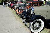 Line of Antique Autos