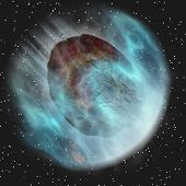 Asteroid Hurling Through Space