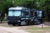 Recreational Vehicle Parked At Campground Site Florida, Usa poster