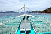 Un barco de la Banca en El Nido, Palawan Filipinas