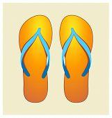 Orange Flip-flops