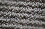 Carpet Grey Floor Carpet Up Close, Macro Shot Of Clean Carpet, Grey Simple Floor Carpet Texture poster