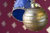 Christmas Ball And Drum Background (Selective And Soft Focus) poster
