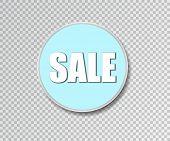 Sale Round Banner. Black Friday Design Template. Summer Sale Sticker. Vector Illustration. Big Sale  poster
