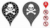 Danger Zone Map Marker Mosaic Of Inequal Parts In Various Sizes And Color Tints, Based On Danger Zon poster