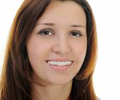 picture of crooked teeth  - Portrait of beautiful teen girl in braces - JPG