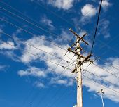 Power Grid Australian Power Pole Electricity Post