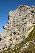 Rock face in Haute-Savoie France