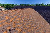 Roof Tiles, Roof On The Roof Of The House. Roof Tile poster