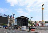 The Capital Of Ukraine Kyiv Is Preparing Fan Zone On Maidan Nezalezhnosti