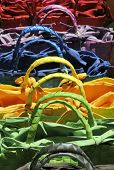 Shopping bags in rainbow colors