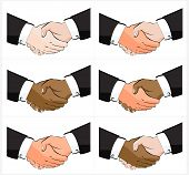 6 Business Handshake Illustrations Pack