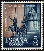 Cervantes Memorial In Madrid