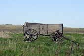 Abandoned Grain Wagon in a field