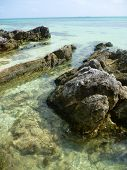 pic of promontory  - he beautiful Gelam beach located on the promontory of the island of Java Karimun - JPG