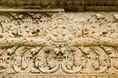 Ancient Khmer Carving of Gods riding Elephants