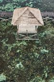 Over-reef Hammock On Wooden Pier With Amazing View Of Coral Reef In Transparent Turquoise Water. Chi poster