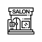 Black Line Icon For  Beauty-salon Beauty Salon Barbershop Glamour poster