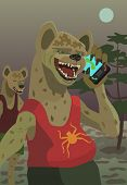 Hyenas Call Their Mobile Phone At Night In Their Territory To Trick Their Prey Or Any Of Your Fantas poster