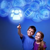 Kids Accessing Cloud Applications