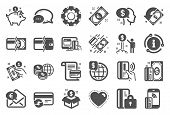 Money Wallet Icons. Update Credit Card, Contactless Payment And Piggy Bank Icons. Online Payment, Do poster