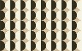 White, Beige, Brown And Black Square Wall Tiles With Abstract Geometry Kaleidoscope Pattern. Tiles W poster