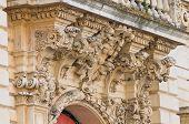 Seminary palace. Lecce. Puglia. Italy.
