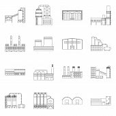 Vector Design Of Manufacturing And Company Logo. Collection Of Manufacturing And Structure Stock Vec poster