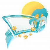 Summer Relaxation Design Element
