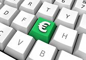 Business Euro Sign Cash Symbol On A Pc