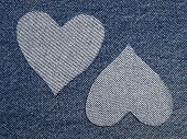 Blue Jeans With Hearts