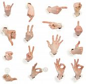 Male Hands Through White Paper