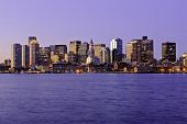 Massachusetts, Boston Skyline At Dawn