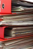 Stack Red File Office Folder
