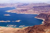 Aerial View Of Lake Mead From Above