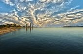 picture of runaway  - Apartment towers at sunrise at Runaway Bay on the Gold Coast Queensland Australia - JPG