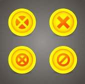 Set of glossy prohibitory icons