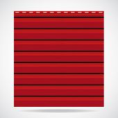 Siding Texture Panel Red Color