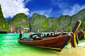 Boats at beautiful beach in Thailand