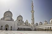 picture of emirates  - Sheikh Zayed Mosque in Abu Dhabi capital of the United Arab Emirates - JPG