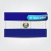 Fabric Texture Of The Flag Of El Salvador