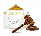 Contract Document Papers And Gavel