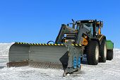 Tractor and Snow Plow