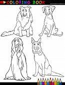 Página para colorear de perros de raza pura de la historieta
