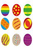 Nine Easter Eggs
